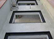 Установка прозрачного дна бассейна