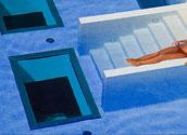 Каркасное остекление дна бассейна