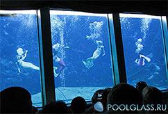 Стеклянный бассейн для подводных шоу 2