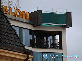 Установка бассейна на крыше