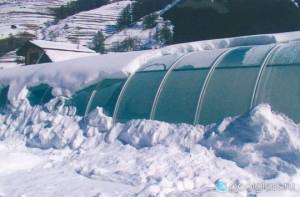 открытый бассейн зимой