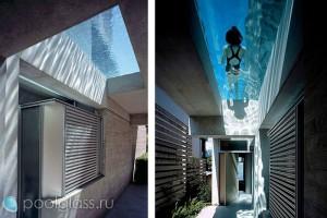 Бассейн со стеклянным дном