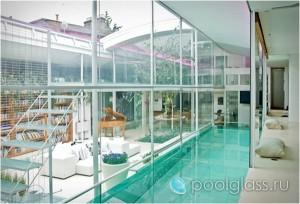 Крытый бассейн в гостиной.